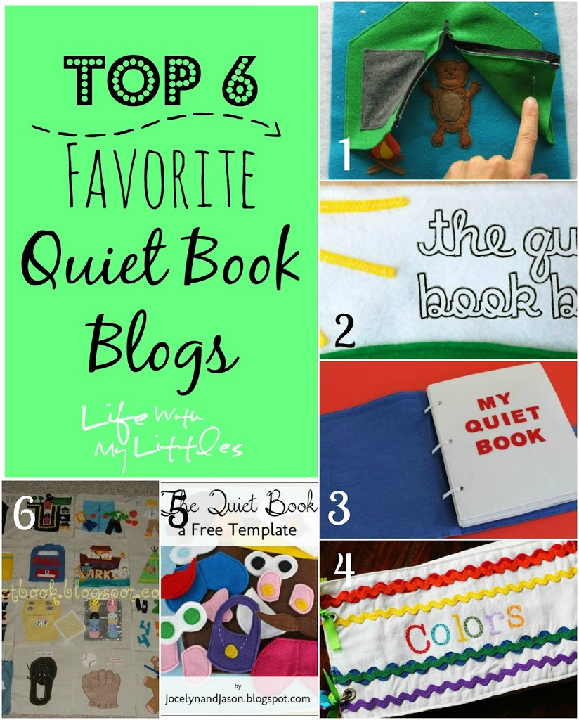 Top 6 Favorite Quiet Book Blogs