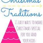 11 Easy Christmas Traditions