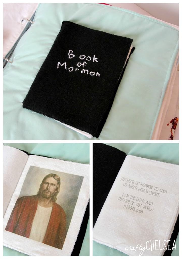 Book of Mormon LDS quiet book page