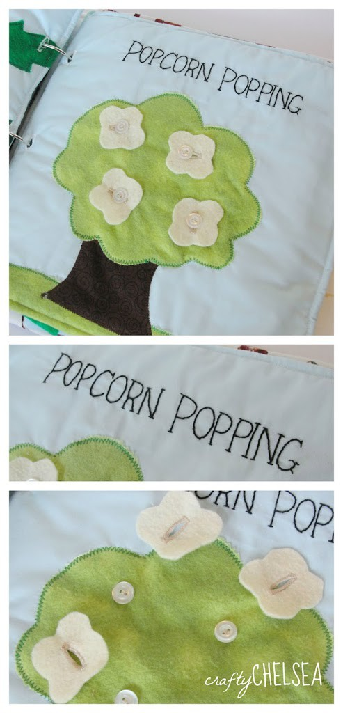 popcorn popping LDS quiet book page