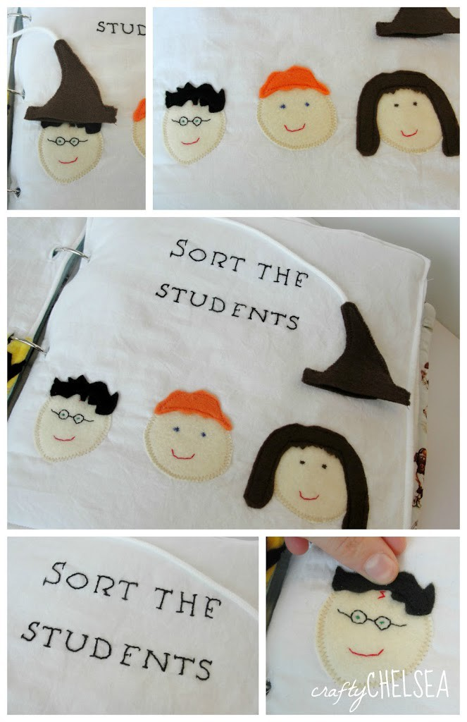 sorting hat Harry Potter quiet book page