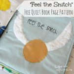 """Feel the Snitch"" Harry Potter Quiet Book Page"