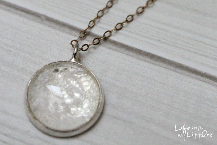 DIY Wedding Dress Necklace