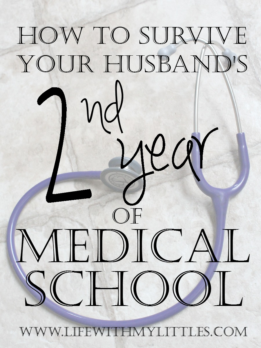 How to Survive Your Husband's Second Year of Medical School: Tips to help you both get through his second year written by a med school wife!