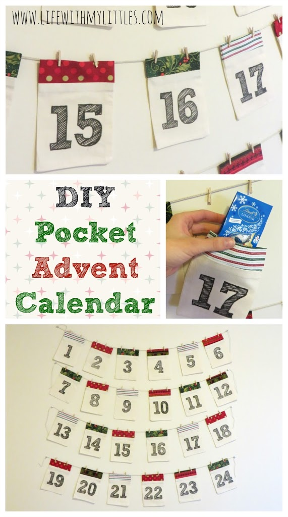 November Calendar Diy : Diy pocket advent calendar life with my littles