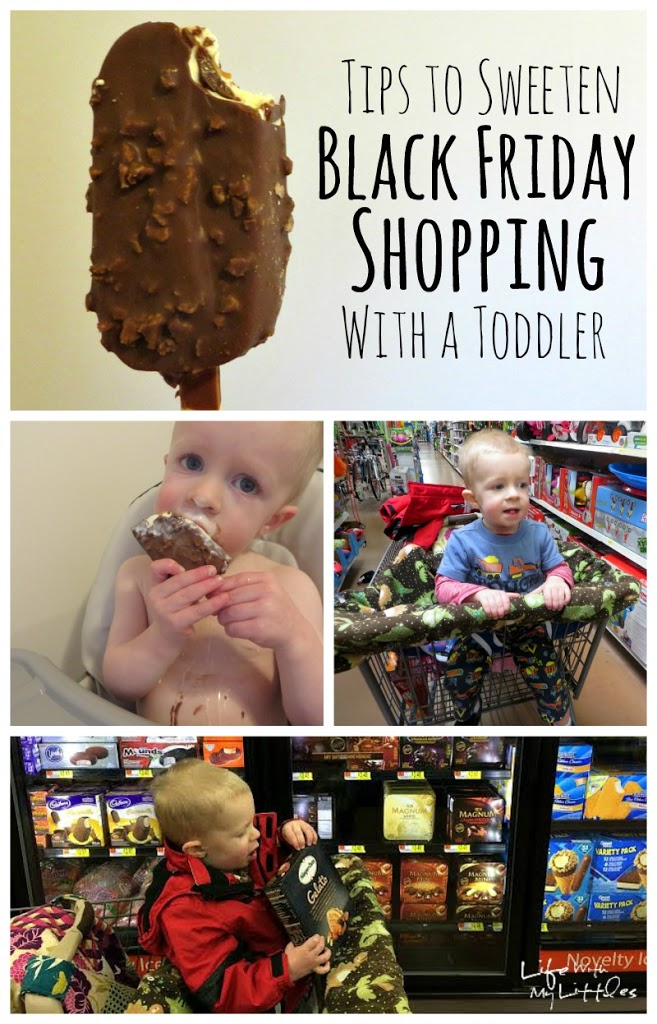 Tips to sweeten Black Friday shopping with a toddler: tips that will make it easier if you have to bring your toddler when you shop on Black Friday!