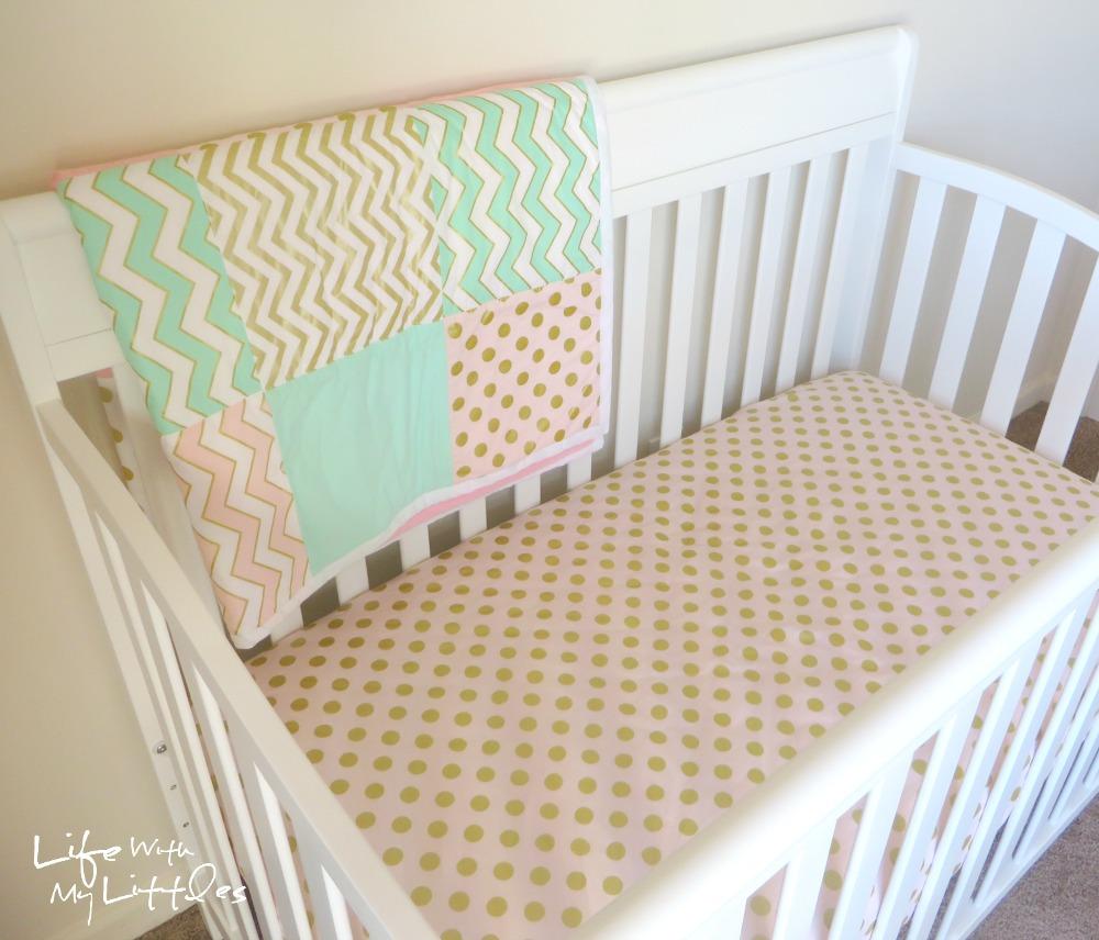 DIY Gold, Mint, and Pink Nursery: A simple, cheap baby girl nursery using a cute color scheme and lots of DIY projects!