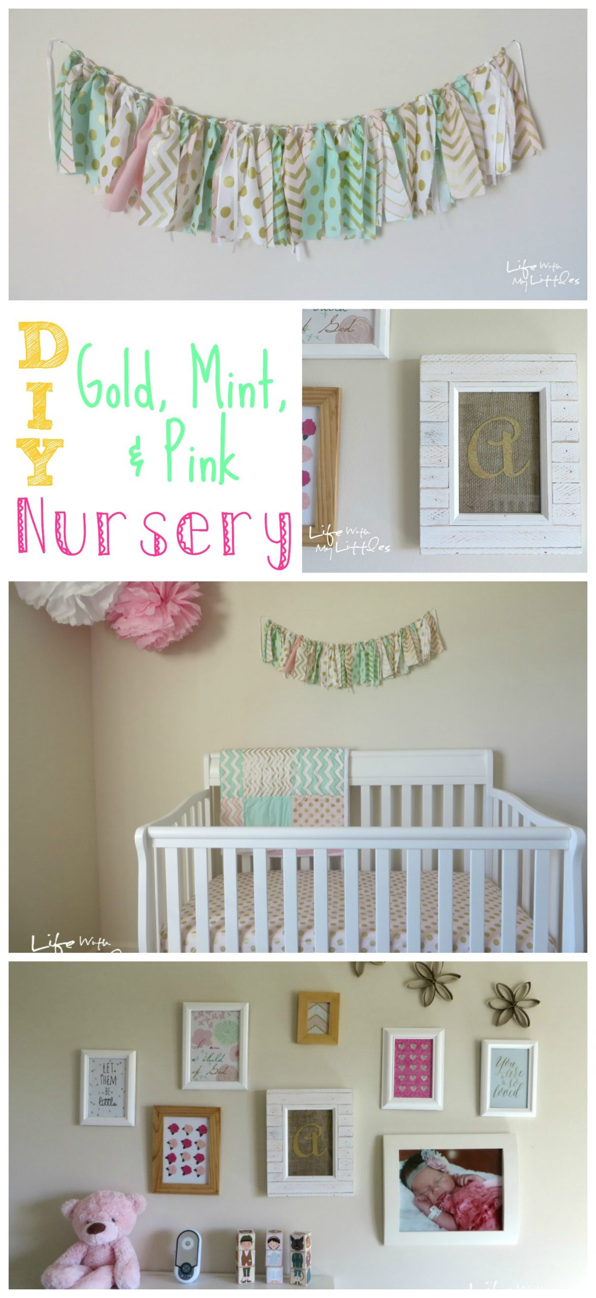 Little A's Gold, Mint, & Pink Nursery Reveal