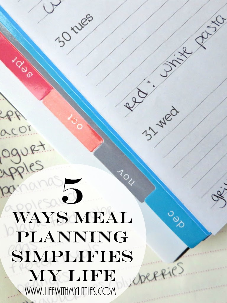 5 ways meal planning simplifies my life: why meal planning is super easy and why everyone should try it!