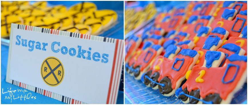 Ideas for a little boy train birthday party. Complete with food ideas, decorations, party favors, and keepsake ideas!