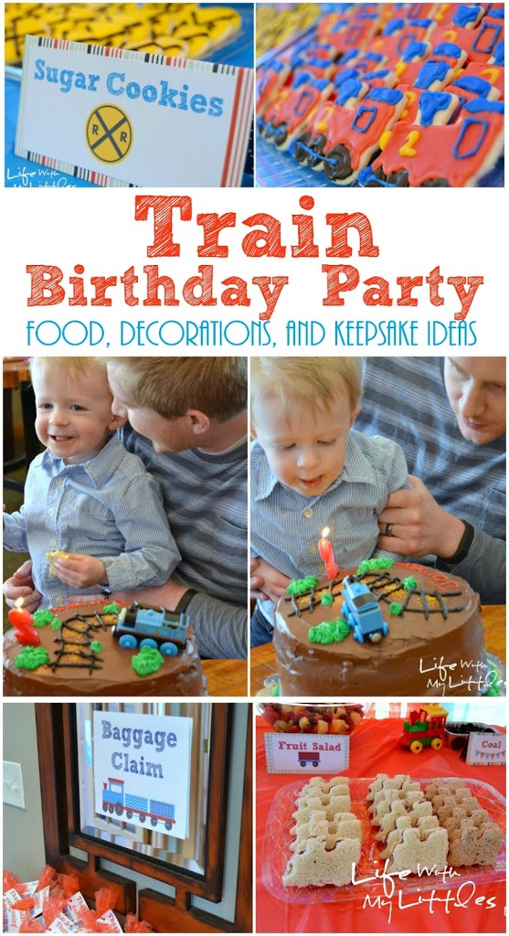 Little J's Train Birthday Party