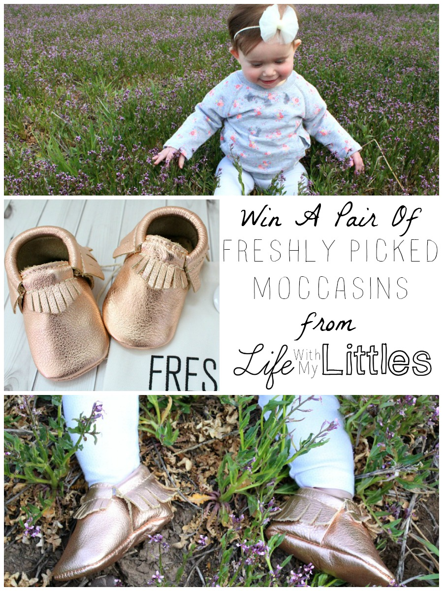 Win a pair of Freshly Picked moccasins from Life With My Littles