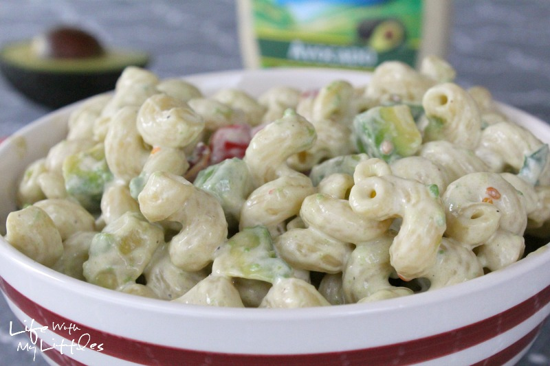 This Avocado Ranch Pasta Salad is a delicious and unique recipe that is perfect as a side dish for your summer barbecue or even a quick dinner!