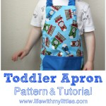 Easy Toddler Apron Pattern and Tutorial