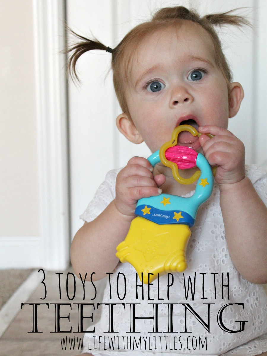 Three toys to help with teething to make it better for you and your baby!