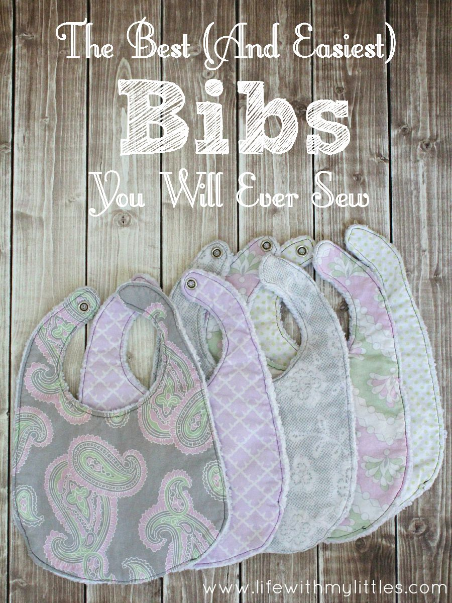 The Best (And Easiest) Bibs You Will Ever Sew