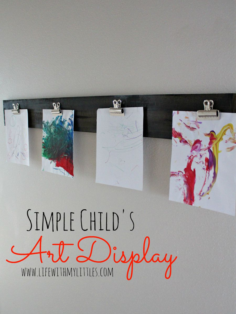 Easy Way to Display Your Child's Artwork