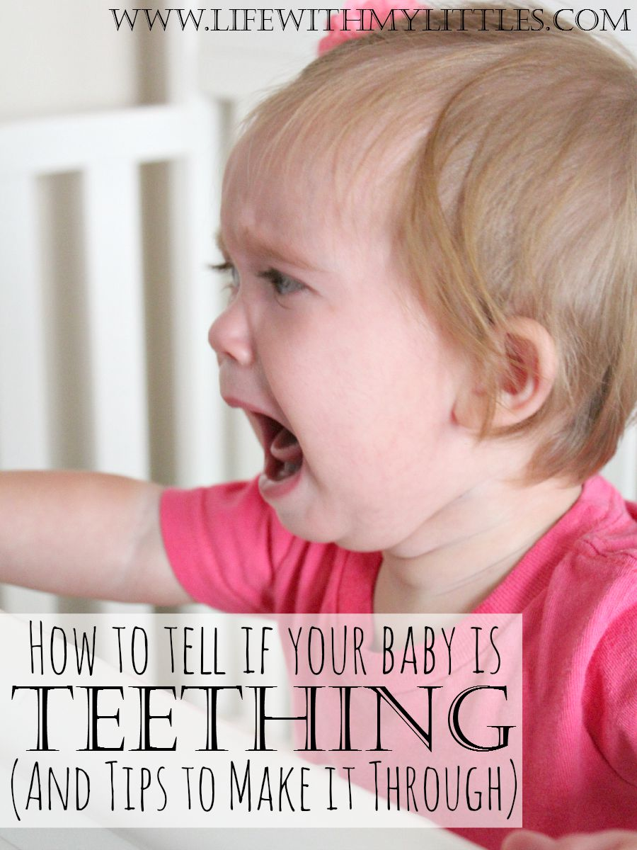 What are some signs a baby is teething?