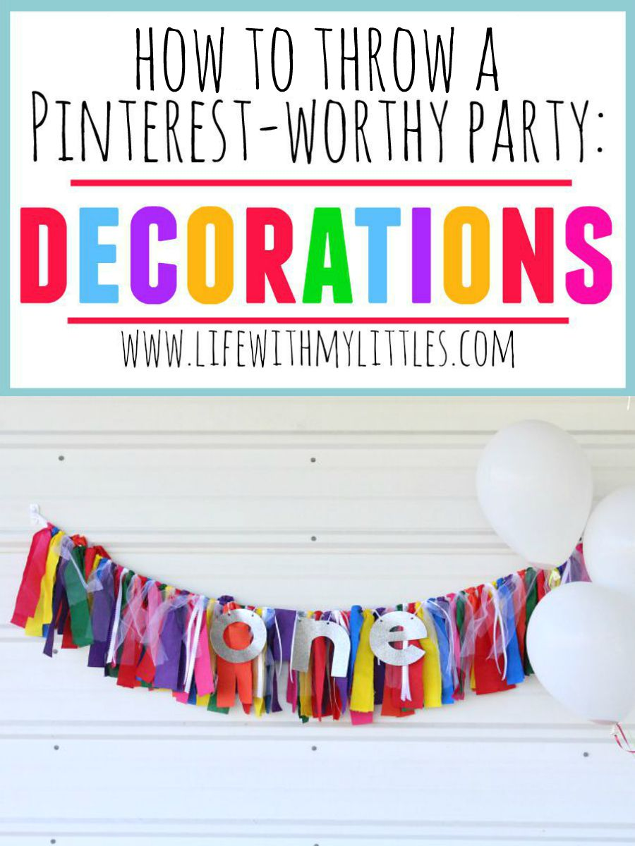 Decorations make all the difference when throwing a party. Check out why the details matter in this post, plus tips on how to throw a Pinterest-worthy party!