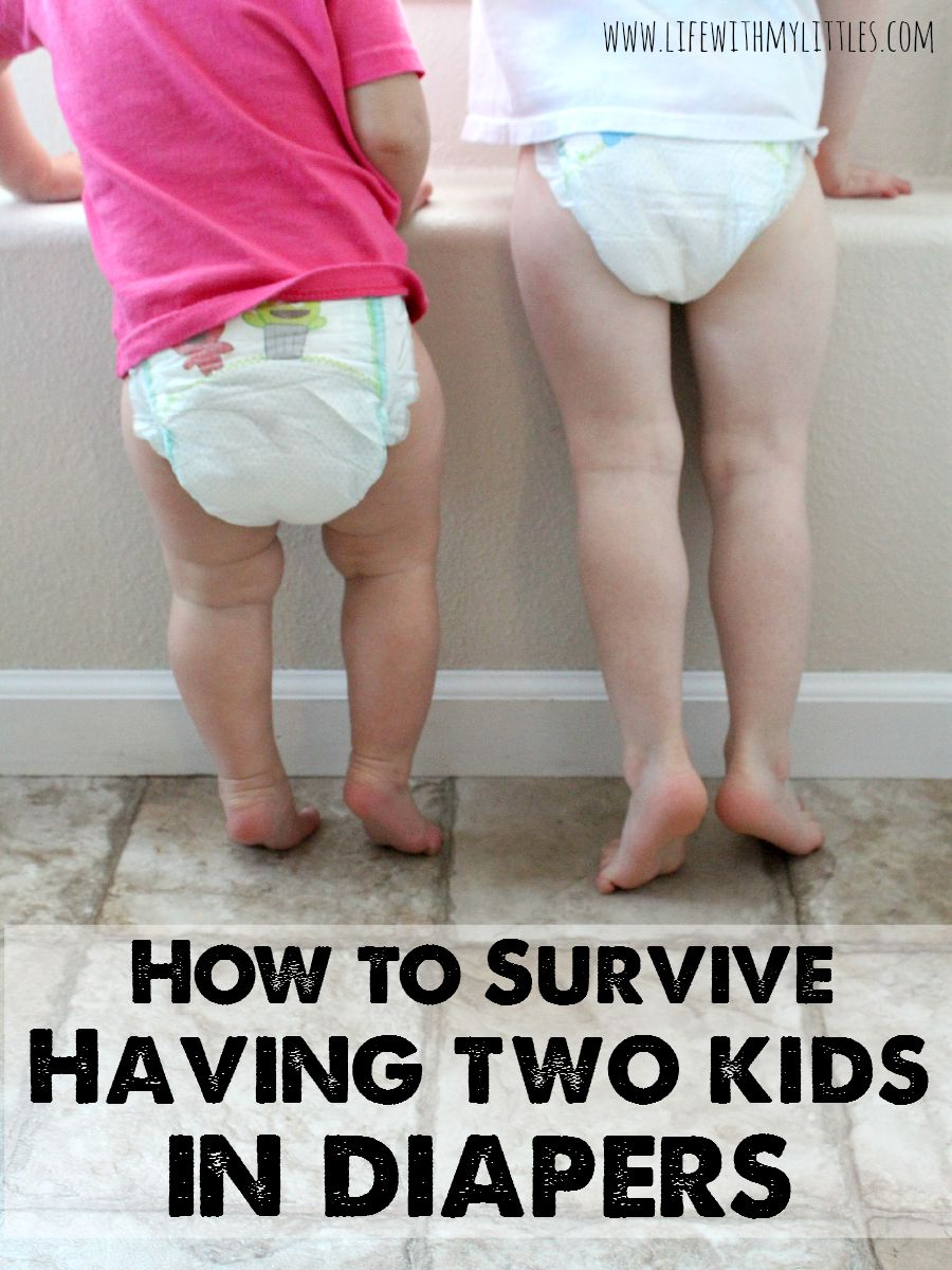How to survive having two kids in diapers: tips to save money and make it through living with two kids in diapers