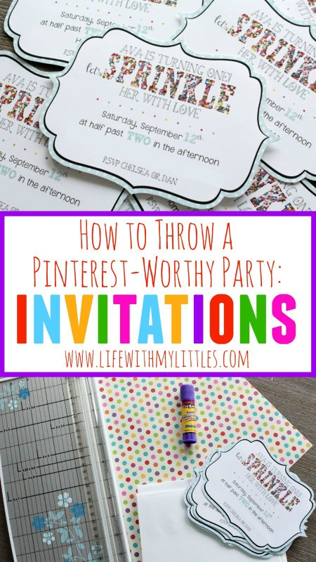 Invitations are so important when you're planning a Pinterest-worthy party! Check out these tips, plus how to throw a Pinterest-worthy party!