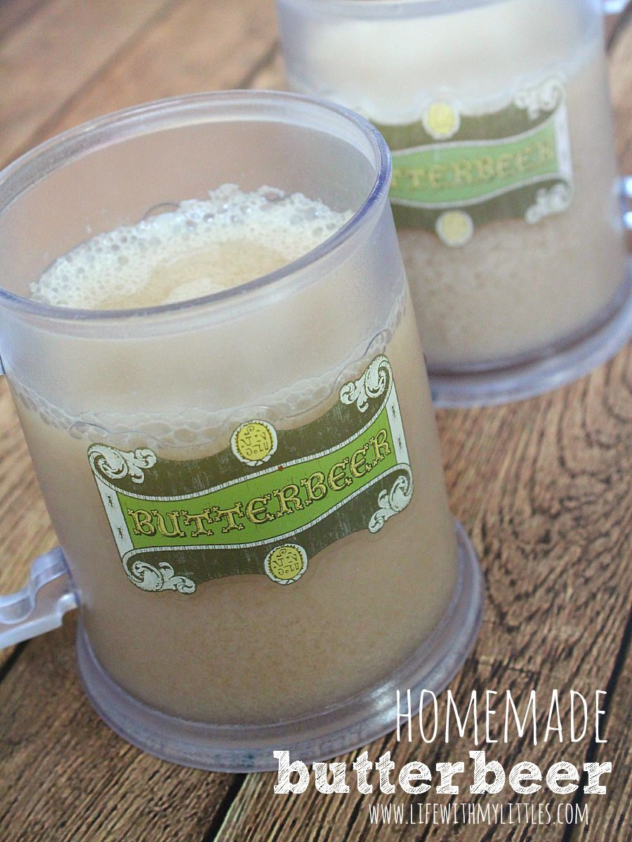 Simple homemade butterbeer recipe. Perfect for any Harry Potter party, or even just drinking while reading the books! It's so delicious and tastes just like you would imagine!