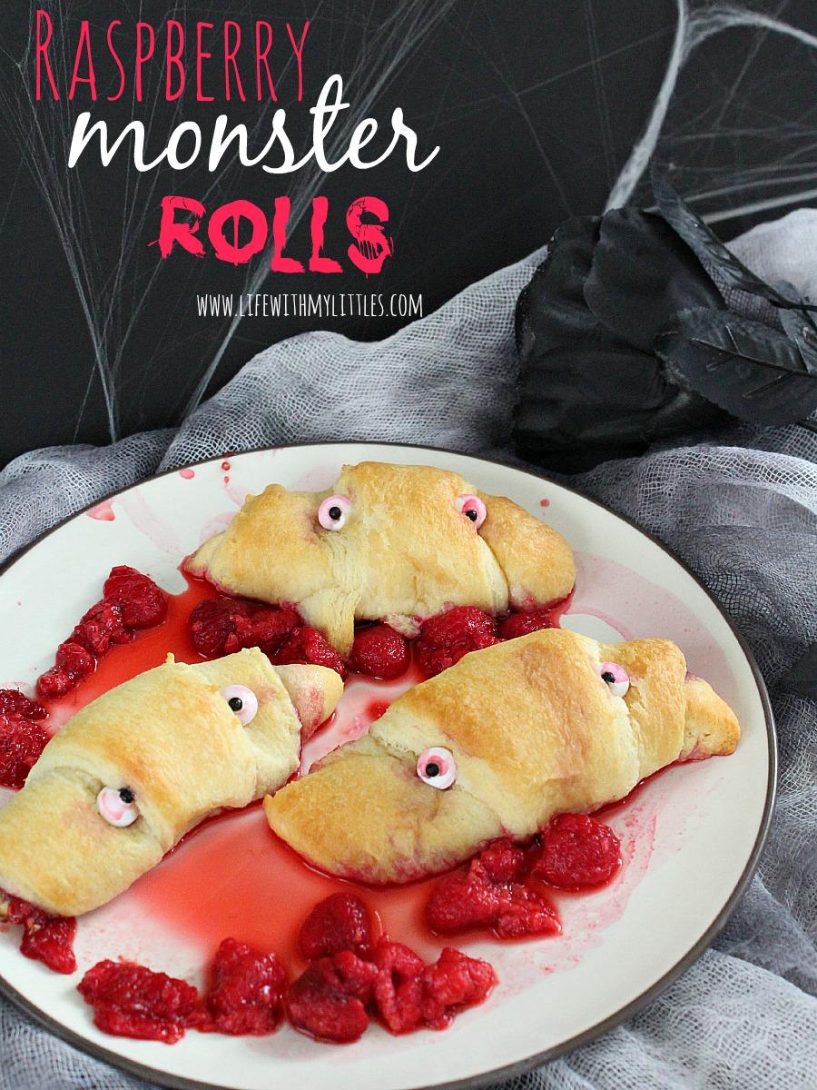 Raspberry Monster Rolls