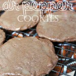 Chocolate Glazed Dr Pepper Cookies