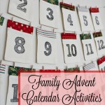 Family Advent Calendar Activities