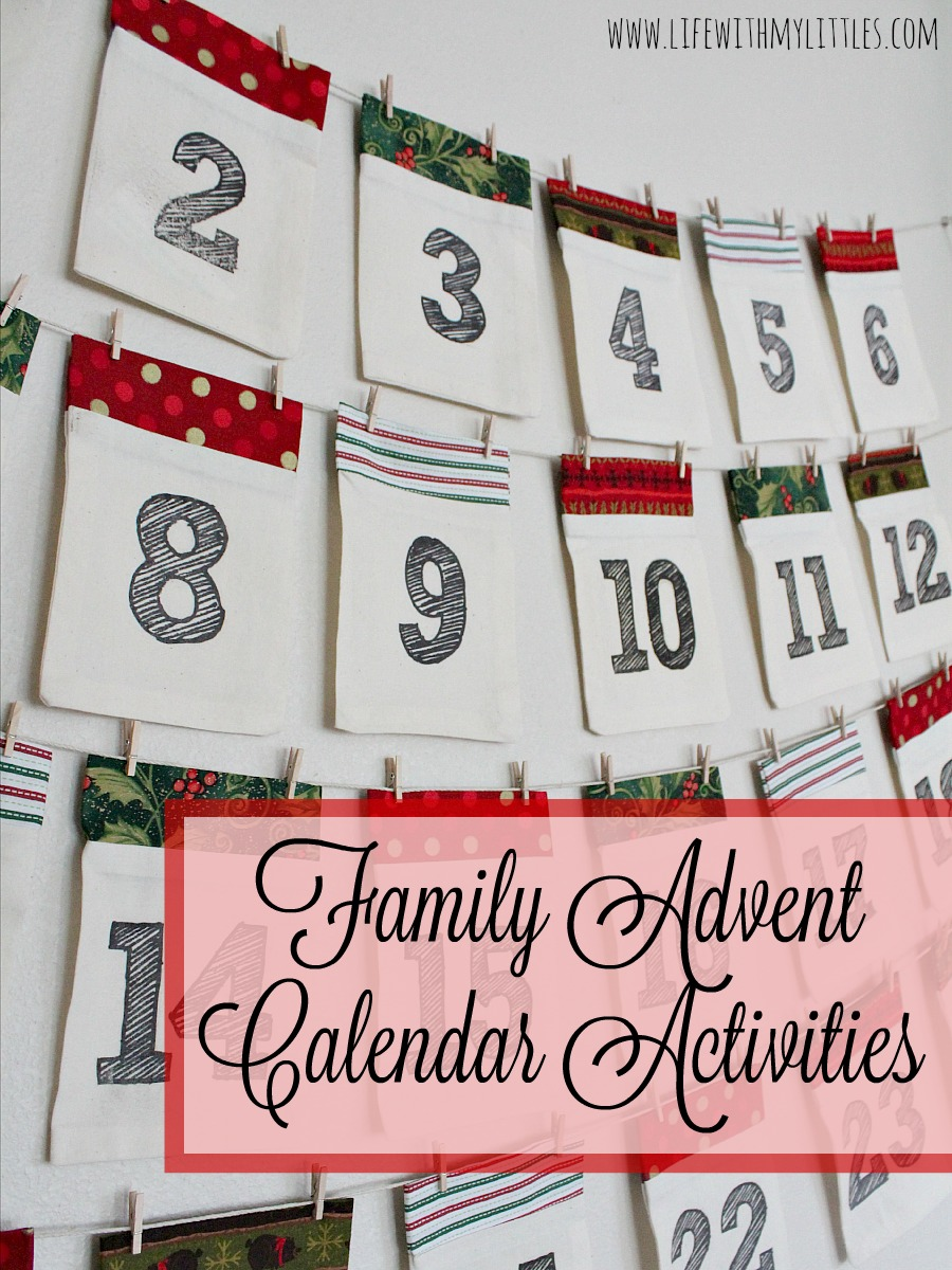 Advent Calendar Ideas Wife : Family advent calendar activities life with my littles