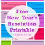 2016 New Year's Resolution Printable