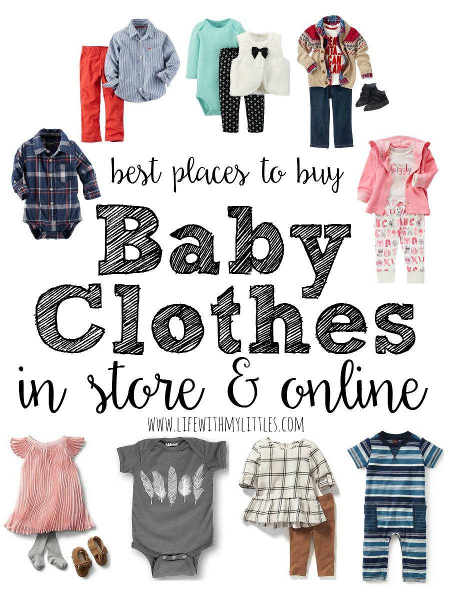 Today I want to tell you what I think are the best places to buy baby clothes, both in store and online. Sometimes you want to see things in person, and sometimes it's just easier to shop online, so I want to share great places that are actual stores and ones that are online only.