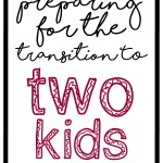 Preparing for the Transition to Two Kids