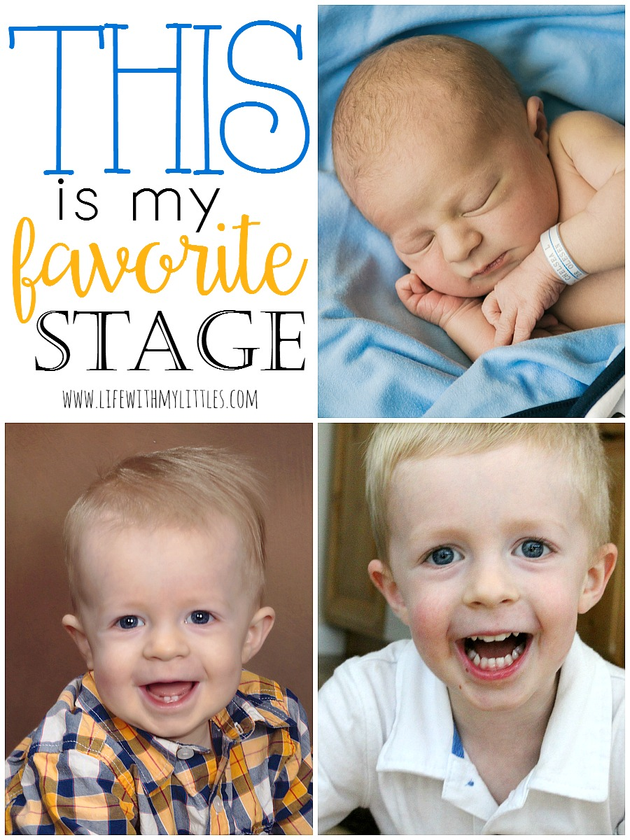 Love this sweet post from a mama about the different stages kids go through and how each is her favorite.