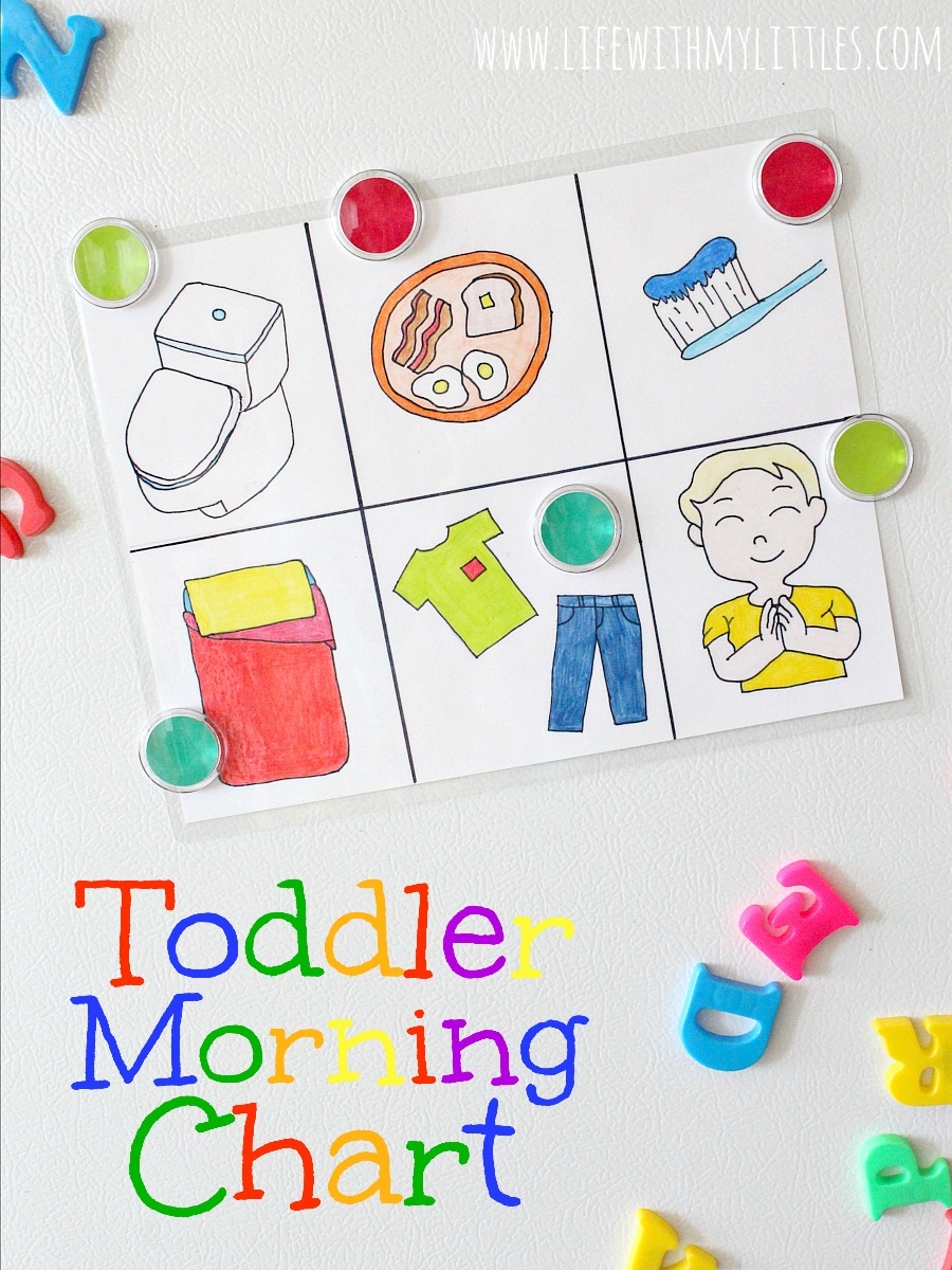 Free Toddler Morning Chart Printable