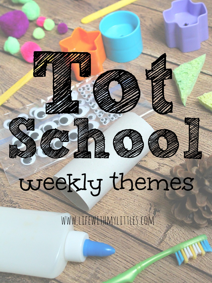 Looking for ideas for Tot School weekly themes? Here's a great list of more than 50 weekly themes ideas that would make for such fun lessons and activities!