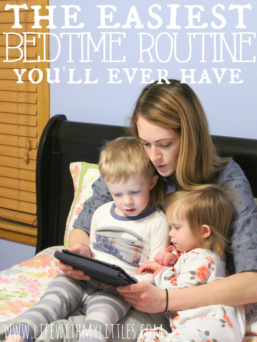 After trying lots of different things, this mom of two figured out the easiest bedtime routine! You have to try it! It's so simple, but so effective.