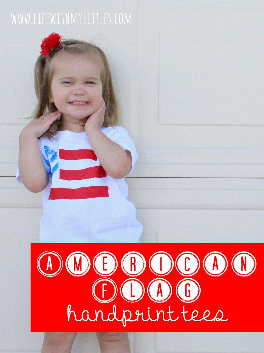 American Flag Handprint Tees Life With My Littles