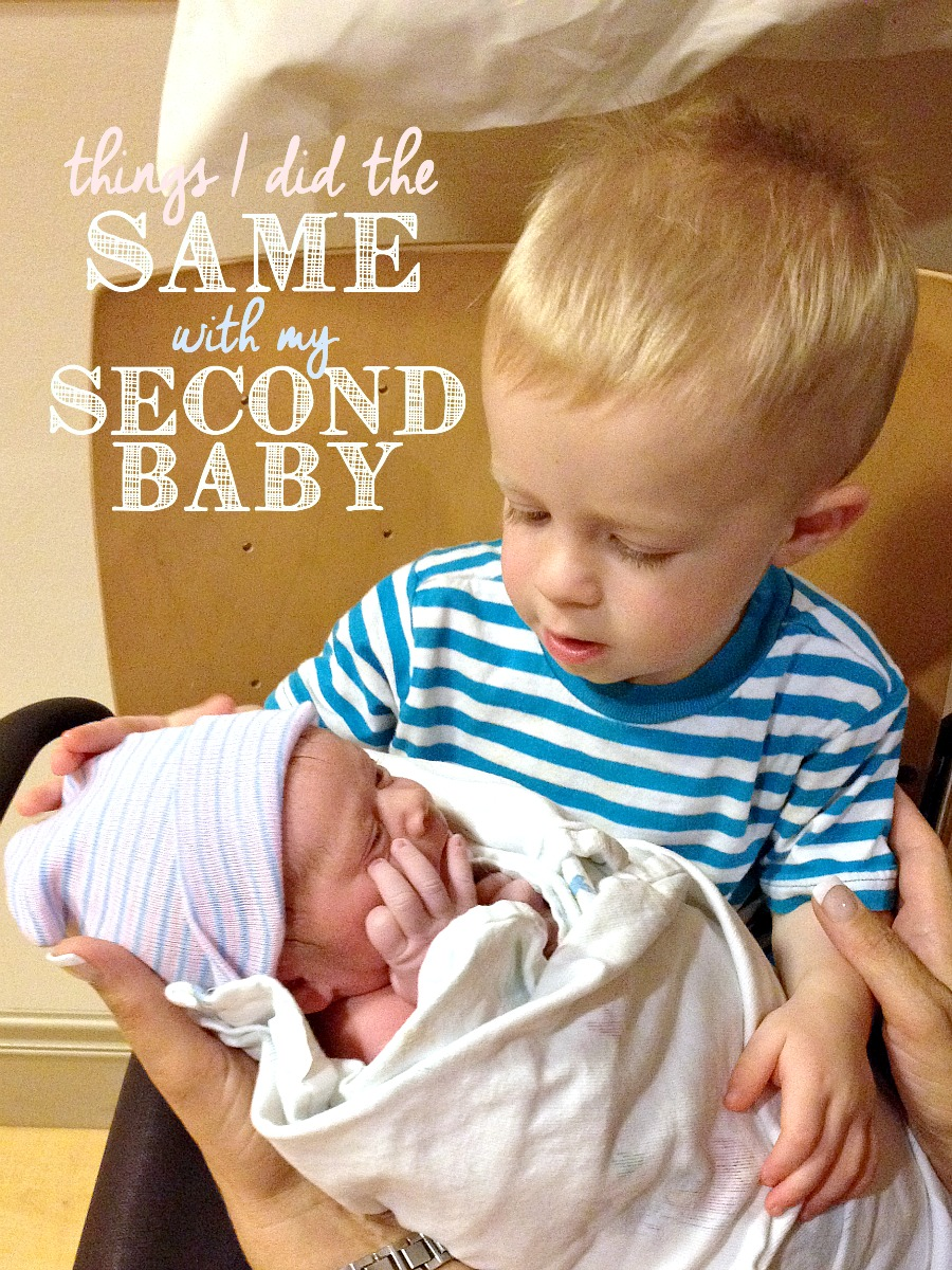 If you're preparing for your second baby, this is a great post to read! Here are a bunch of things I did the same with my second baby and why!