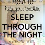 Helping Your Toddler Sleep Through the Night