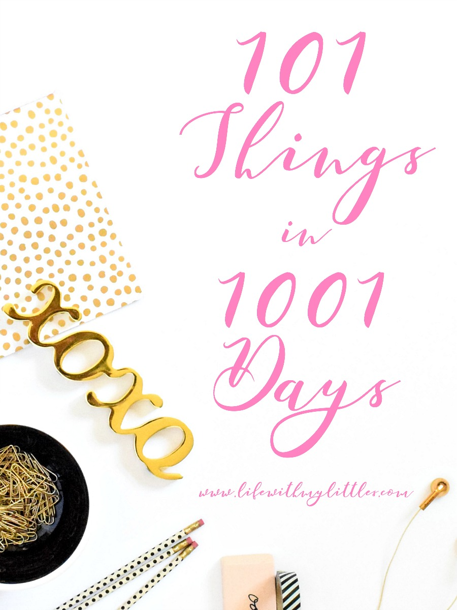 If you're looking for ideas for your 101 things in 1001 days list, check out this post! Love her list!