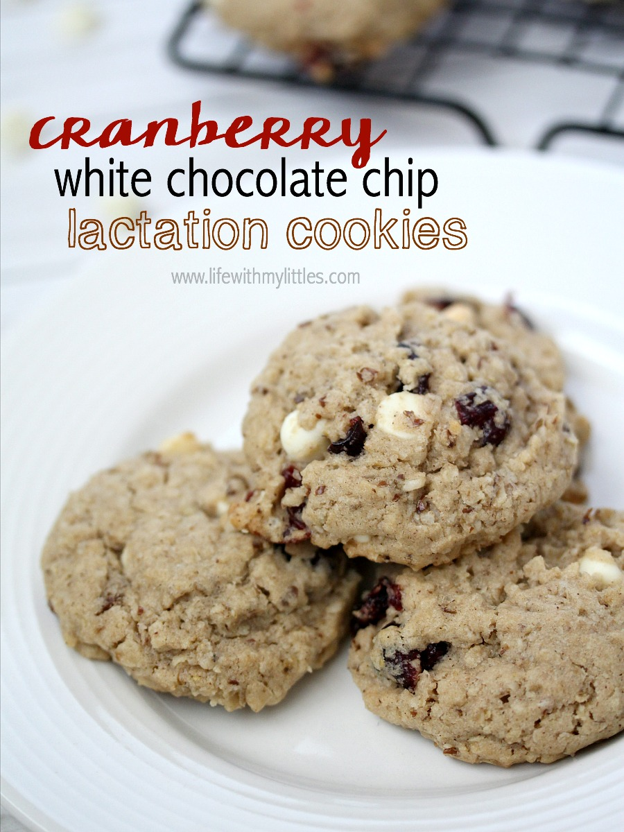 These cranberry white chocolate chip lactation cookies work miracles! They are delicious, and the oatmeal combined with the dried cranberries and white chocolate chips is amazing! Plus the special ingredients really help boost your milk supply!