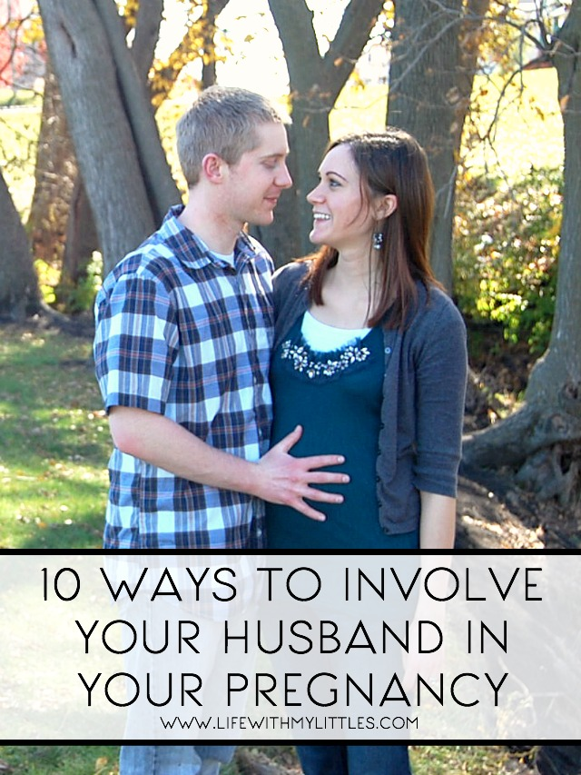 These are great ideas on ways to involve your husband in your pregnancy. 10 fun things to do together when you're pregnant!
