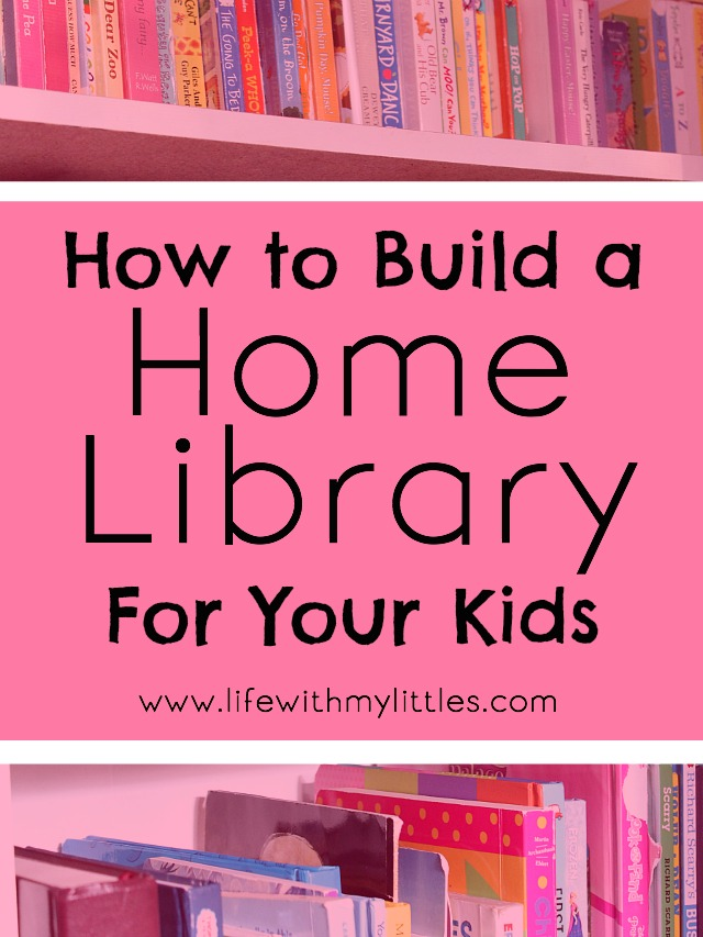 These are great tips on home to build a home library for your kids that they'll actually use! A must-read for parents of little ones!