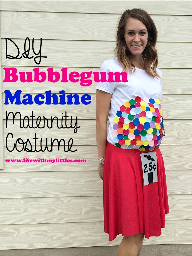 DIY Bubblegum Machine Maternity Costume