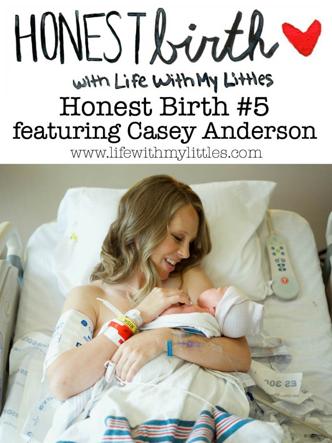 Mama Casey Anderson of Collectively Casey shares the hospital birth story of her second daughter on the Honest Birth birth story series! Casey was induced at 39 weeks and after getting an epidural (that didn't have time to kick in), her daughter was born vaginally!