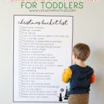 Giant Printable Christmas Bucket List for Toddlers