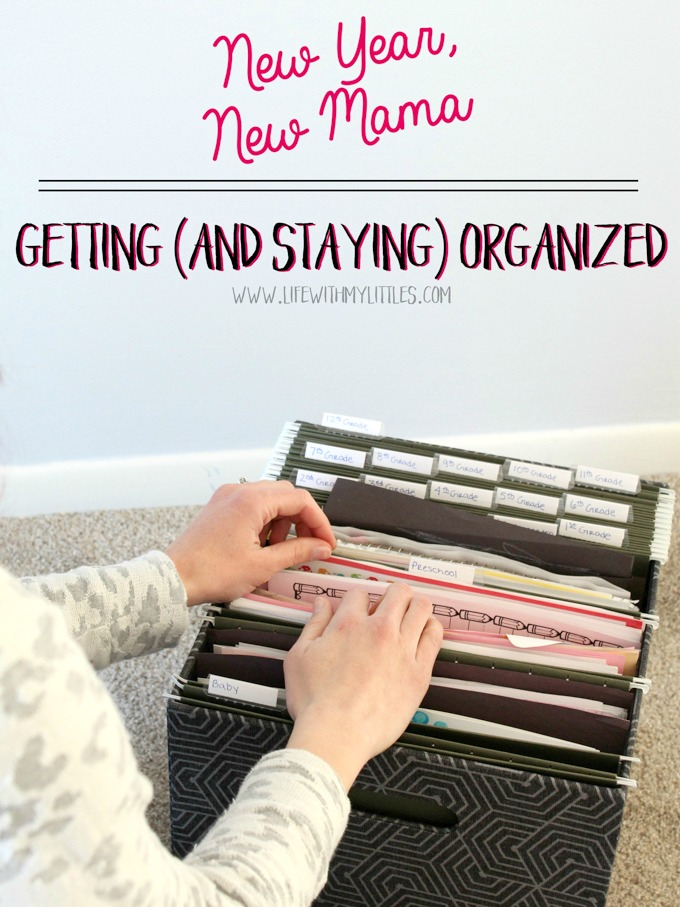 Want to organize your home but feeling overwhelmed and unsure where to start? Here's a helpful post that breaks down how to get organized in an easy, manageable way! Plus tips on staying organized, too! A must-read if you've been inspired to tidy up!