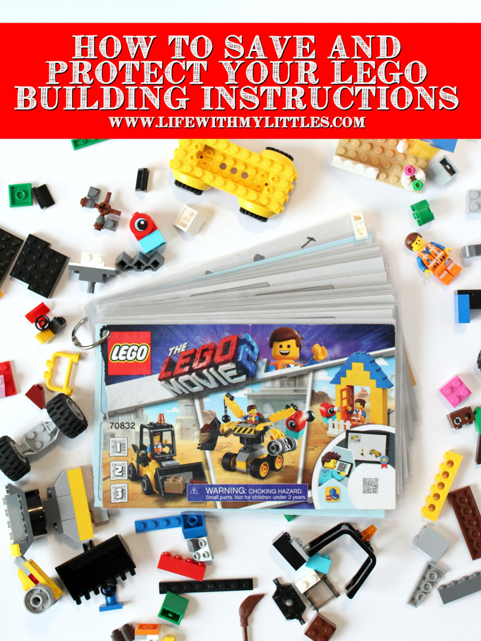 How to Save and Protect Your LEGO Building Instructions