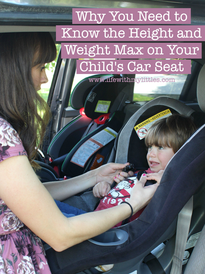 Is your child's car seat installed correctly in your car? Don't be so sure! Here's why you need to know the height and weight max on your child's car seat, and four things it affects!